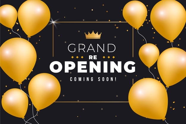 <h1>Grand Opening</h1>